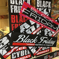 KIT 6 affiches BLACK FRIDAY