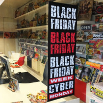 "Affiche ""BLACK FRIDAY WEEK CYBER MONDAY"" L25  H70 cm"