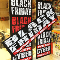 "KIT 3 affiches ""BLACK FRIDAY"""