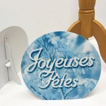 "Chevalet rond ""JOYEUSES FÊTES"" L30 H28 cm"