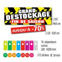 Kit de 2 affiches GRAND DESTOCKAGE