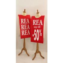 """Poster mannequin  """"REA -50%"""" L40 H168 cm"""