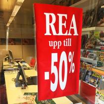 Poster REA app Till 50% L40 H78cm