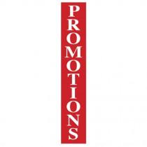 """Affiche """"PROMOTIONS"""" verticale L30 H168 cm"""